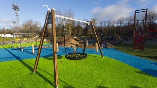 Children playgrounds in Liepāja