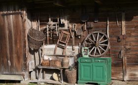 Exposition of Antiques in Rural Homestead