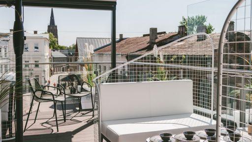Grilbārs  CukurFabrik' rooftop terrace
