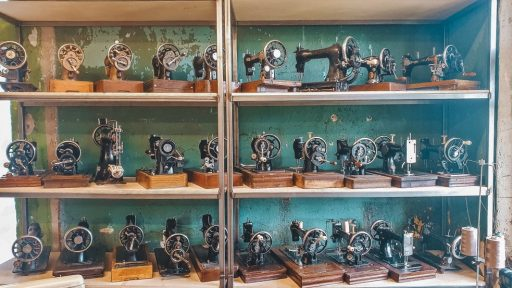 Private collection of sewing machines