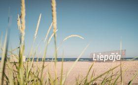 Лиепайские буквы на пляже