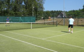 Tennis court in Pāvilosta