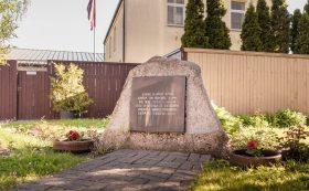 Liepāja Jewish ghetto Memorial stone