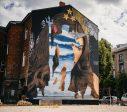 Всемирно известный граффити-художник OZMO создал свой новый рисунок в Лиепае